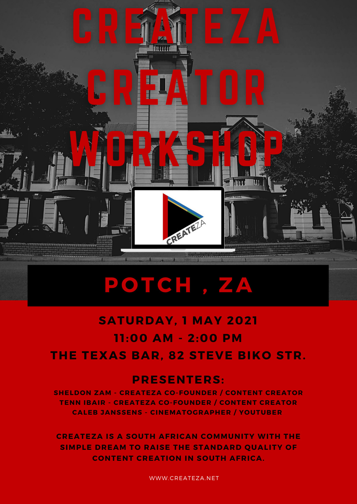 CreateZA Creator Workshop Potch